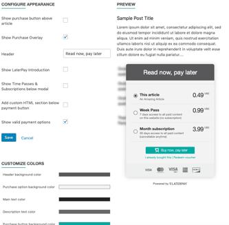 WordPress Plugin Appearance Tab